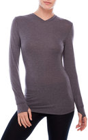 Cuddl Duds ActiveLayer Long Sleeve V-Neck Top