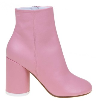 MM6 MAISON MARGIELA Pink Leather Ankle Boot