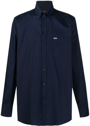 Paul & Shark Logo Embroidered Button-Down Shirt