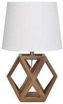 Threshold Accent Lamp Geometric Figural Wood (Includes CFL bulb