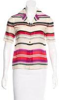 Derek Lam 10 Crosby Stripe Silk-Blend Top