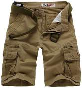 Update Bestgift Mens Cargo Combat Style Shorts 5 Colors XL