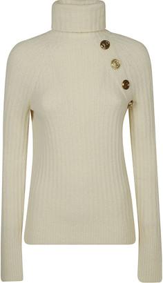 Balmain Turtleneck Rib Embellished Sweater