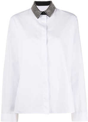 Haider Ackermann Gemstone Collar Buttoned Shirt