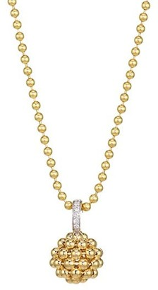 Maria Canale Flapper 18K Yellow Gold & Diamond Ball Pendant Necklace