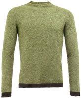The Elder Statesman contrast trim knit sweater
