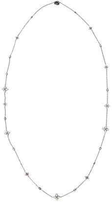 MARIANI 18kt White Gold Diamond Flower Necklace