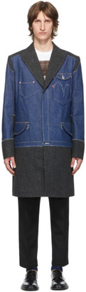 Junya Watanabe Indigo Levis Edition Denim and Wool Selvedge Coat