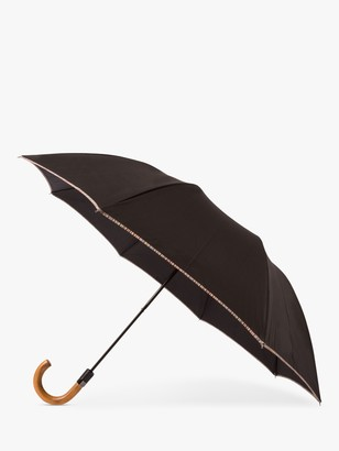 Paul Smith Signature Stripe Border Compact Umbrella, Black