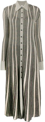 M Missoni Striped Shirt Midi Dress
