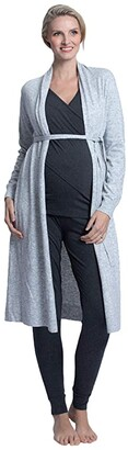 Angel Maternity Five-Piece Maternity Nursing Outfit (Grey) Women's Pajama Sets