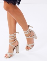 Spurr Rika Lace-Up Block Heels