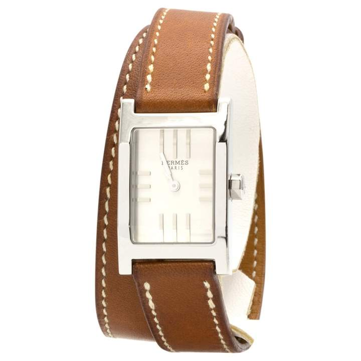 Hermes Tandem Brown Steel Watches