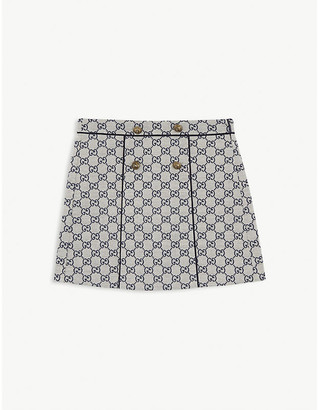 Gucci GG canvas cotton skirt 4-12 years