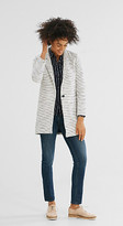 Esprit Fitted coat with jacquard stripes