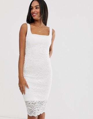 Vesper lace square neck dress