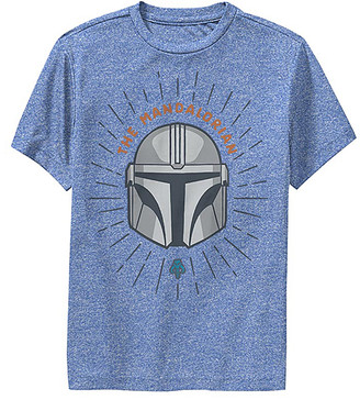 Fifth Sun Tee Shirts ROY - Star Wars Royal Heather Mandalorian Shield Crewneck Tee - Kids