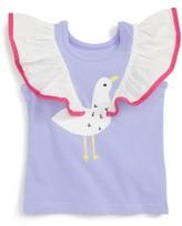 Infant Girl's Rosie Pope Seagull Flutter Sleeve Tee