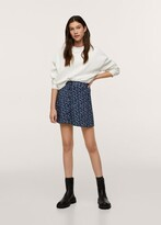 Thumbnail for your product : MANGO Floral print skirt