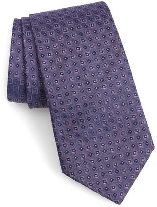 John Varvatos Geo Pattern Silk Tie