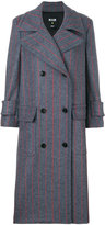 MSGM pinstripe double breasted coat