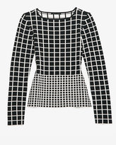 Ohne Titel Gradient Grid Knit Top