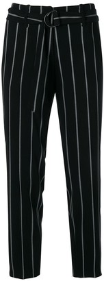 Cambio Striped Cropped Trousers
