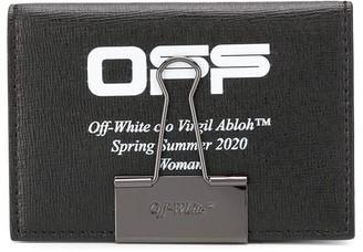 Off-White Logo Clip Cardholder