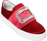 Roger Vivier 30mm Sneaky Viv Silk Satin Sneakers