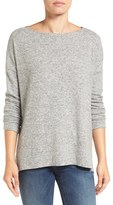 Gibson Women's Cozy Fleece Ballet Neck High/low Pullover