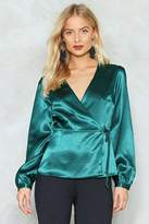Nasty Gal Girl You're So Together Satin Top