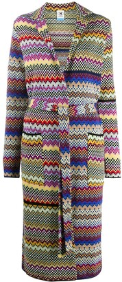 M Missoni Geometric-Knit Robe Cardigan