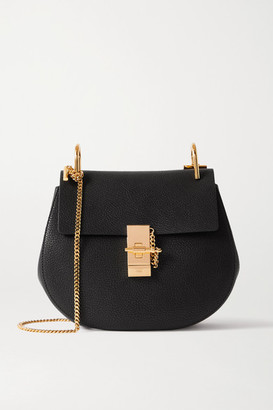 Chloé Drew Textured-leather Shoulder Bag - Black