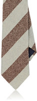Barneys New York MEN'S STRIPED WOOL TWEED NECKTIE