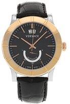 Versace Men's 18A99OD009 S009 Acron Big Date Automatic Power Reserve 18K Gold Bezel Watch