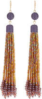 Lydell NYC Linear Tassel Drop Earrings
