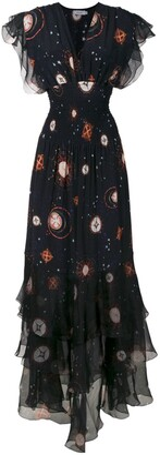 Isolda silk Pri long dress