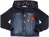 Dolce & Gabbana Cotton Jacket W/ Denim Panels