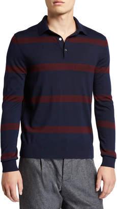 Ralph Lauren Men's Striped Wool Polo Shirt