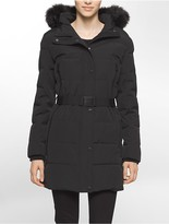 Calvin Klein Performance Belted Hooded Jacket