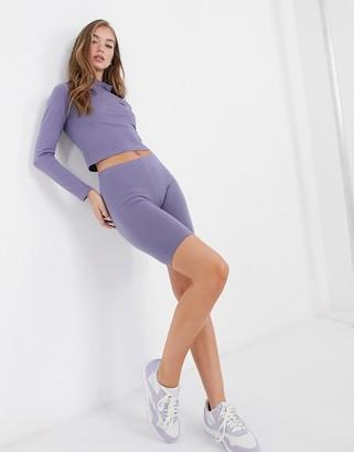 ASOS DESIGN mix & match basic legging short in steel