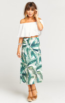 MUMU Flirt Skirt ~ Banana Leaf