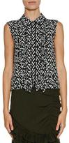 Marni Shatter-Print Sleeveless Blouse, Spherical Green