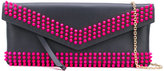 Borbonese embellished clutch - women - Cotton/Leather - One Size