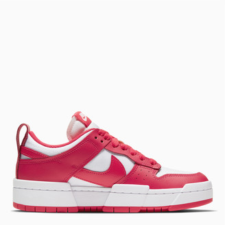 Nike White/red Dunk Low Disrupt women's sneakers