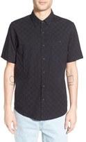 Ezekiel Men's 'Check It' Regular Fit Print Short Sleeve Woven Shirt