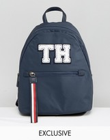 Tommy Hilfiger Exclusive Modern Nylon Backpack in All Over Embroidered Flag