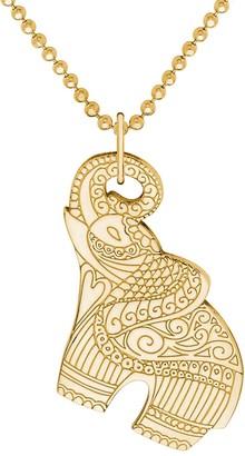 Cartergore Medium Gold Elephant Pendant Necklace