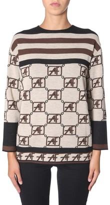 Alberta Ferretti Geometric Pattern Knit Jumper