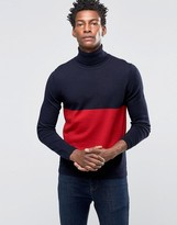 Wood Wood Jaques Roll Neck Sweater Chest Stripe